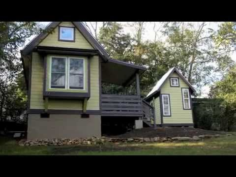 Video tour and interview of a legally permitted tiny house for Tiny house built on foundation