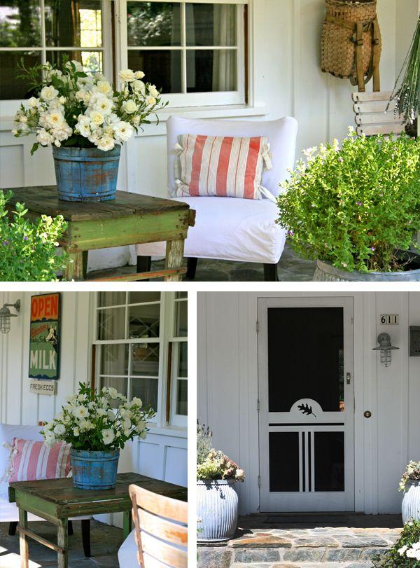 Porch: Country Porch, Flea Markets, Styles, Porch Ideas, Front Porches, Style Porch, Flea Market Style
