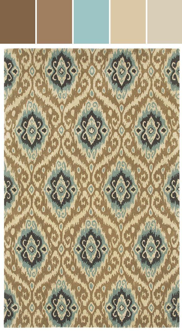 Ikat Rug In Khaki Designed By Capel Rugs Via Stylyze As