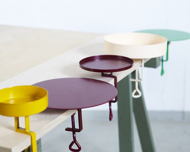Clamp trays by Lina Huring