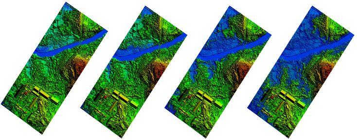 alluvione fiume droni fotogrammetria