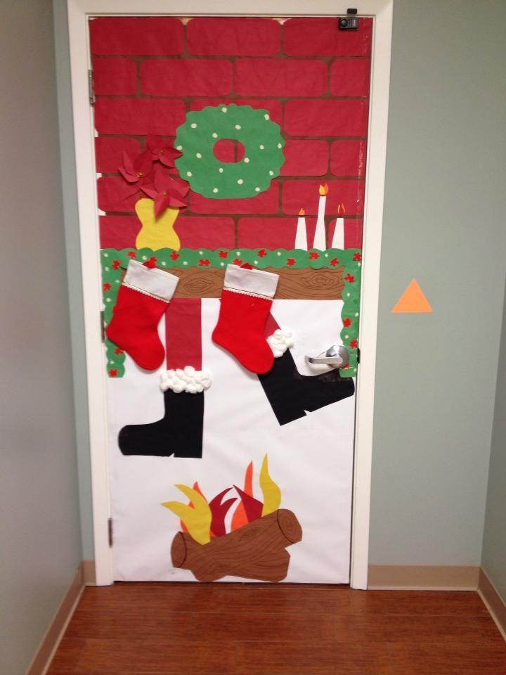 Santa Chimney Door Dcor - Autism puzzle pieces | Winter ...