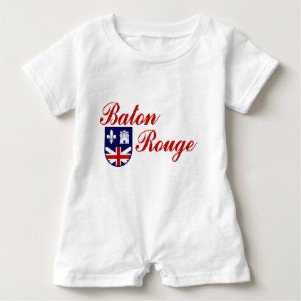 Emblem Of Baton Rouge Louisiana Baby Romper Baton Rouge Louisiana