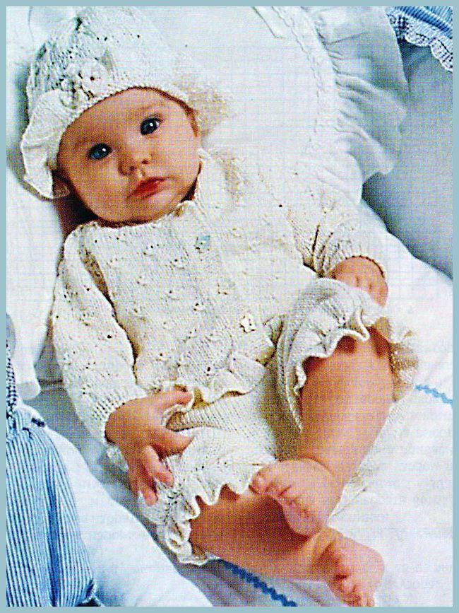 Вязаный комплект для малыша из пяти предметов. Вязание крючком. Вязание спицами. - Вязание комплектов и комбинезонов для новорожденных - Вязание малышам - Вязание для малышей - Вязание для детей. Вязание спицами, крючком для малышей