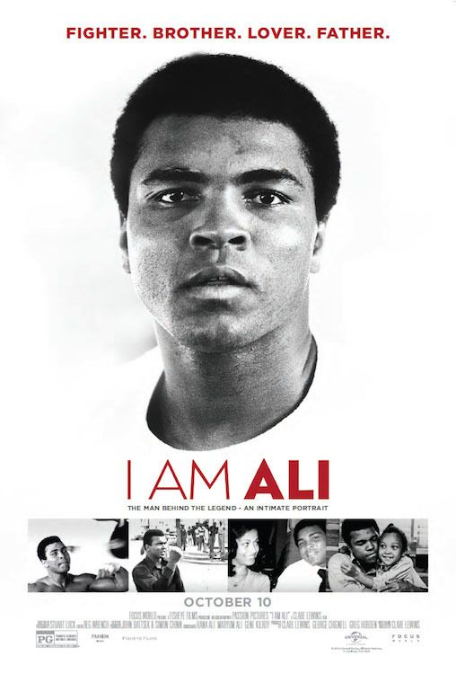 I Am Ali (October 10, 2014) a documentary film directed by Clare Lewins. This is told through exclusive, unprecedented access to Ali's personal archive of 'audio journals' combined with touching interviews and testimonials from his inner circle of family and friends, including his daughters, son, ex-wife and brother, plus legends of the boxing community, Mike Tyson, George Foreman and Gene Kilroy.
