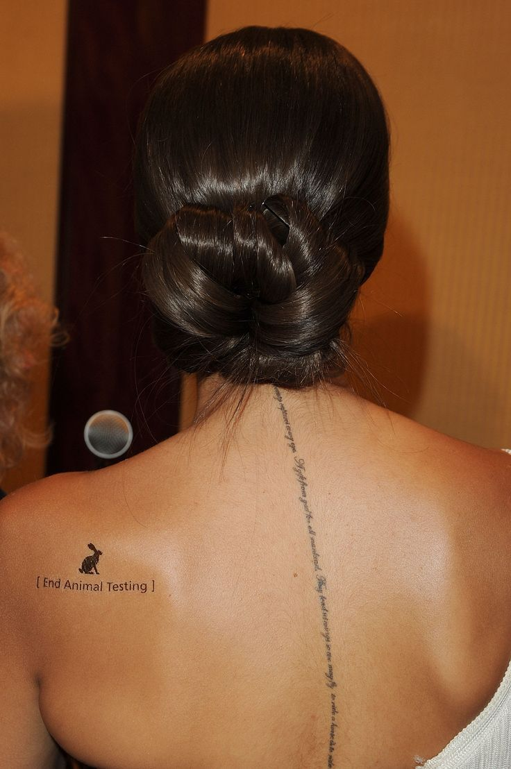 Vertical Spine Font Tattoos Men: Spinal Size Font...love Script....Leona Lewis
