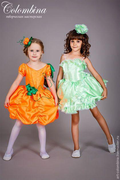 Купить или заказать Костюм тыквы в интернет-магазине на Ярмарке Мастеров. комплектация: платье, шляпка 134-146+300 рублей…