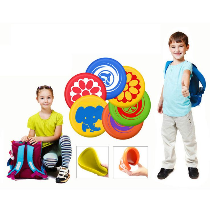 $8.67 - Nice Kindergarten Playing Game Flying Disc Frisbee Toy Soft PU Frisbee Toy For Parent-Child Interactive Outdoor Flying Disk Game Prop - Buy it Now!