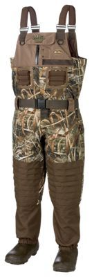 Drake Waterfowl Systems MST Eqwader 2.0 Breathable Insulated Boot-Foot Wading System for Men - Realtree Max-5 - 8 Regular