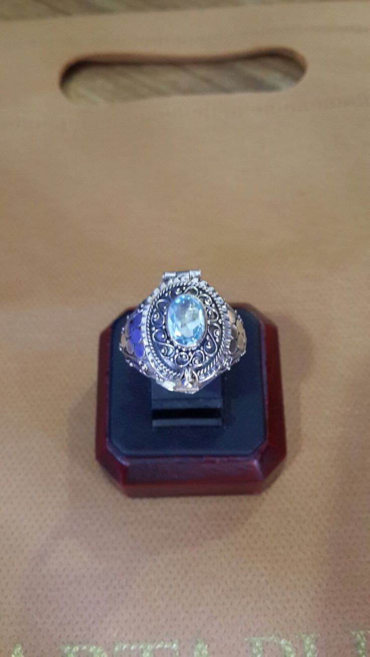 Gallery Retail - The Very Beautiful Baby Blue Crystal Silver Ring Design