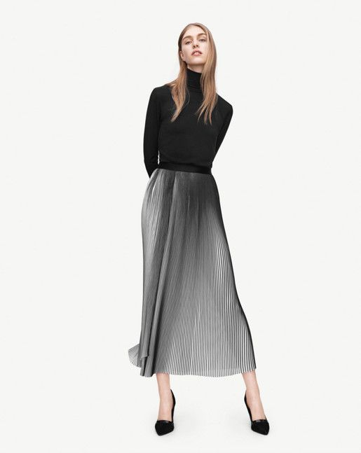 Plissé Slit Skirt - Skirts - Shop Woman - Filippa K