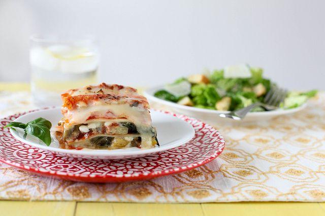 veggie lasagna by annieseats, via Flickr: Annieseat, Summer Vegetables, Vegetables Lasagne, Lasagna Recipes, Veggies Lasagnar, Vegetables Lasagna, Lasagna Yum, Vegetable Lasagna, Amazing Veggies