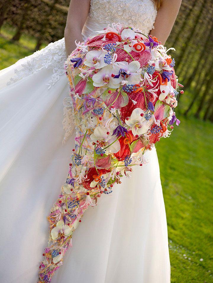Colourful bridal bouquet ~ Valentijn Sneek