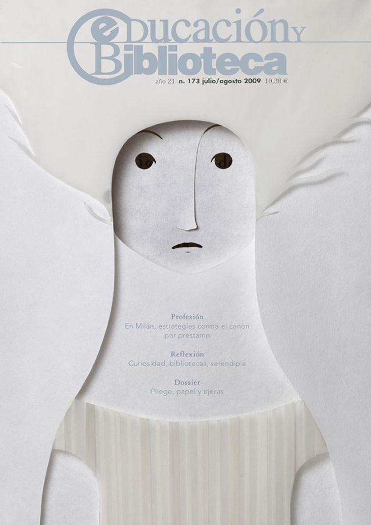 cMag675 - Educación y Biblioteca Magazine cover by Elena Odriozola / July - August 2009