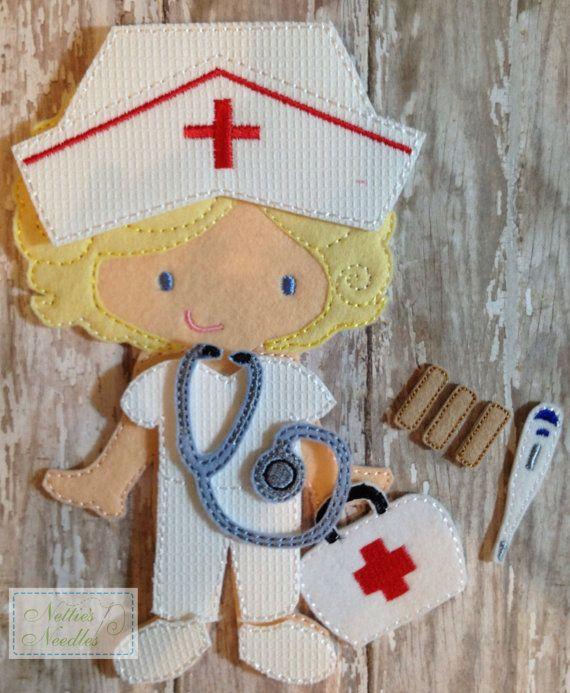 Enfermera enfermera: enfermera Dress Up establecido para la muñeca del fieltro