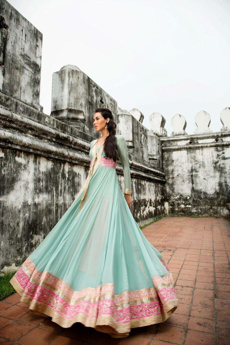 Outfit ByThreads And Motifs Bride Bangles Indian Fusion Wedding Lengha Bridal Lehenga Saree Sari Makeup Hair
