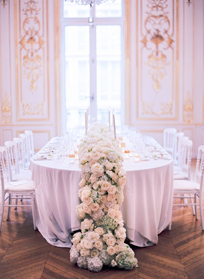 Brides, be forewarned, this extravagant destination wedding in Paris, France will inspire you to also say 'I Do' in the city of love. This couple settled on a small, yet luxurious, ceremony in front of a spectacular historical building