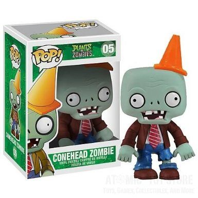 Funko Pop Vinyl | Plants vs. Zombies Conehead Zombie.