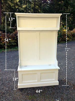 Build your own hall storage - great DIY instructions.