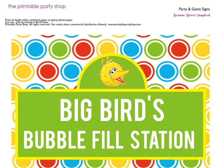 48 best 2nd birthday party images on pinterest birthday party sesame street print template game bugbirdbubbles sign sesamestreet pronofoot35fo Choice Image