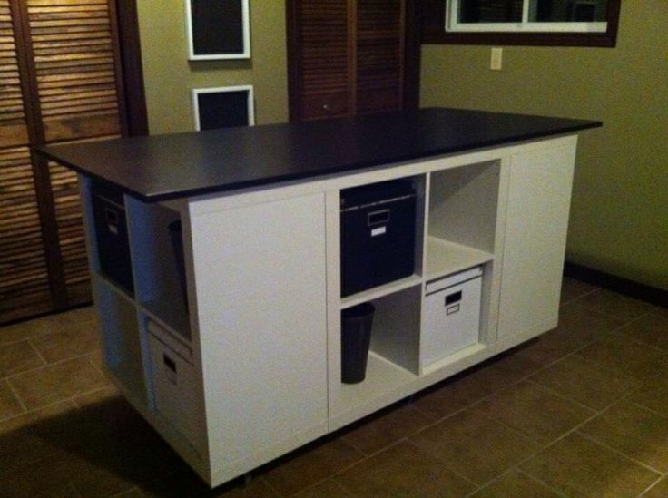 8 best repurposing bookcase images on pinterest kitchen for Rolling craft table with storage