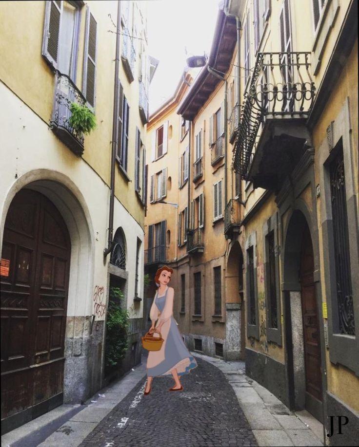Коллаж Улица Дисней Принцесса Арт Искусство Art Collage Surrealism Street Princess