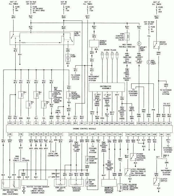 18 96 Civic Engine Wiring Diagram Engine Diagram Wiringg Net Honda Civic Honda Civic Engine Honda Civic Vtec