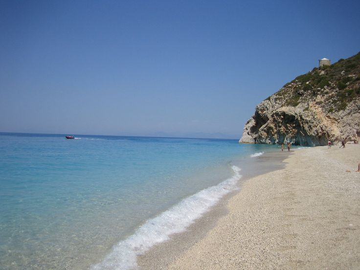 Mylos beach, Lefkada, Greece. A short drive from Kathisma Bay Villas at Kathisma beach, Lefkada