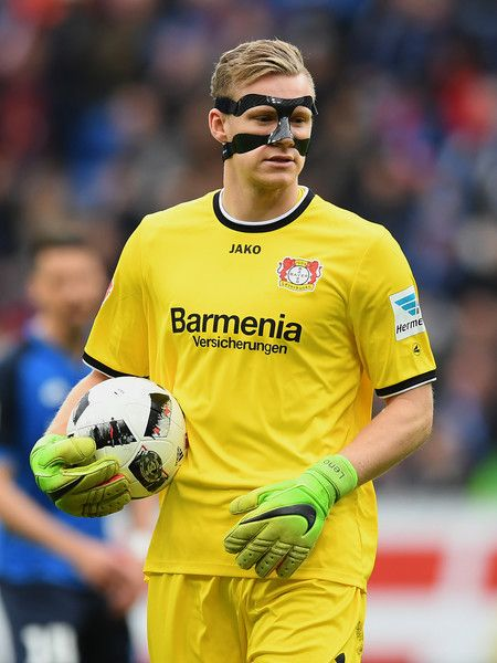 Goalkeeper Bernd Leno of Leverkusen seen during the Bundesliga match between TSG 1899 Hoffenheim and Bayer 04 Leverkusen at Wirsol Rhein-Neckar-Arena on March 18, 2017 in Sinsheim, Germany.
