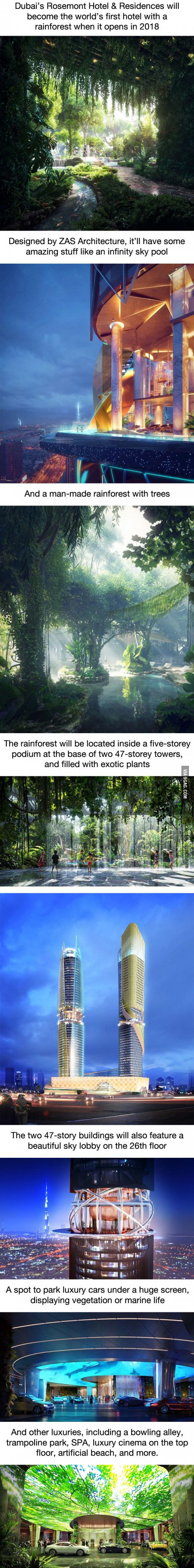 Dubai is opening a hotel with a fu*king rainforest inside. Because why not?