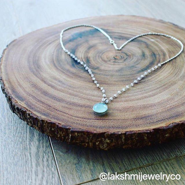 "Blue Chalcedony paired with Moonstone buds | the ""Amora"" design  #lakshmijewelryco #lakshmi #innergoddess #unleashyourinnergoddess #gemstonejewelry #gemstones #crystalnecklace  #vancouvergemstones #handmadejewelry #crystaltherapy #crystalhealing #vancouverjewelry #newagejewelry #goodvibes #entrepreneur #vancouverstartup #handmade #blue #chalcedony #moonstone #smallbusiness #heartshaped #turquoisenecklace"
