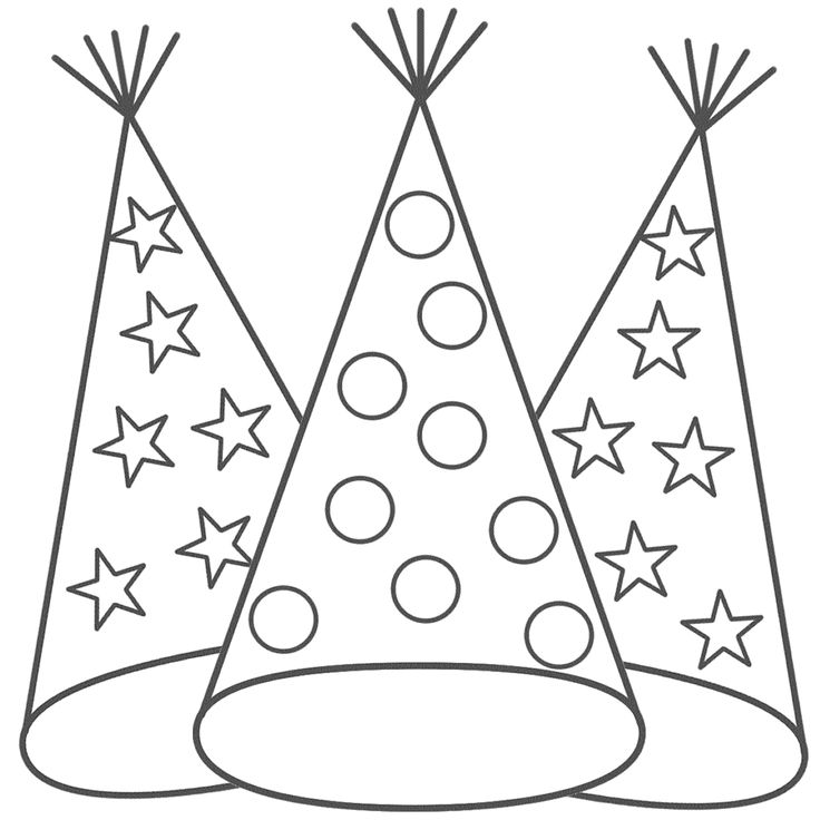 New Year coloring page