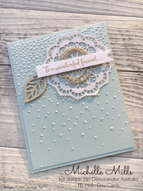 Michelle Mills Ind Stampin' Up! Demonstrator Australia. FB: Hello Day Cards: