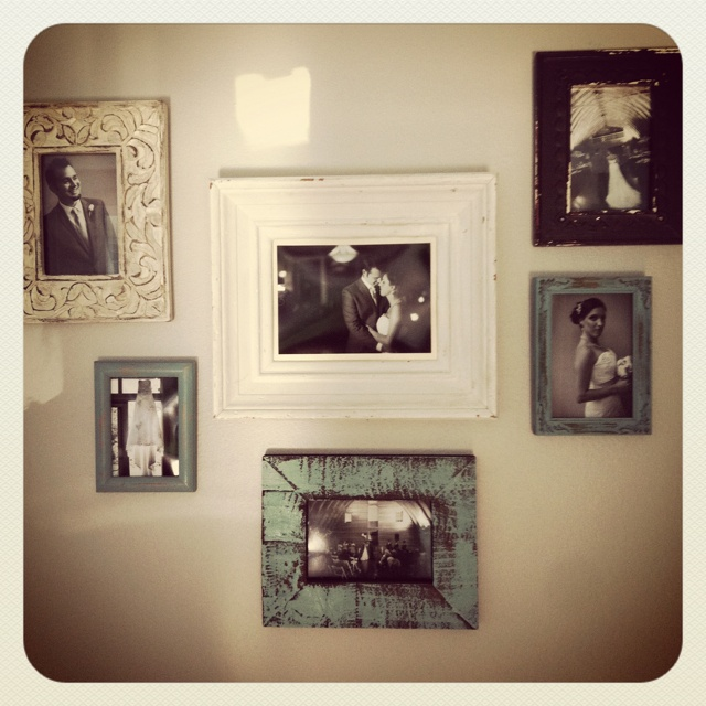 I want to do this with my wedding picture collage :) with orange grey and black