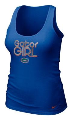Florida Gators Women's Royal Nike Girl Rib Tank Top $25