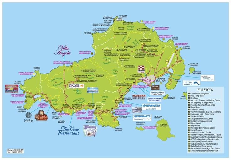 Map of Skiathos island