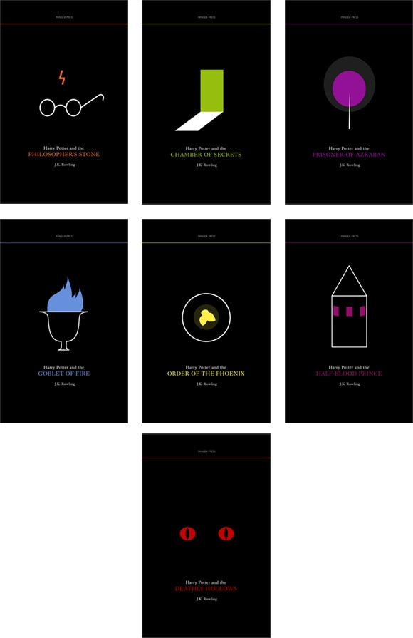 Minimalist Book Cover Names ~ Harry potter book cover design minimalist aesome