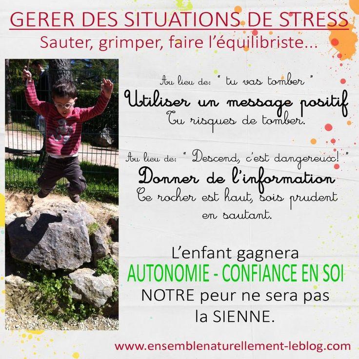 Gérer des situations de stress Enfants - Education Bienveillante Montessori Maternage Astuce Evolution Parentalité positive