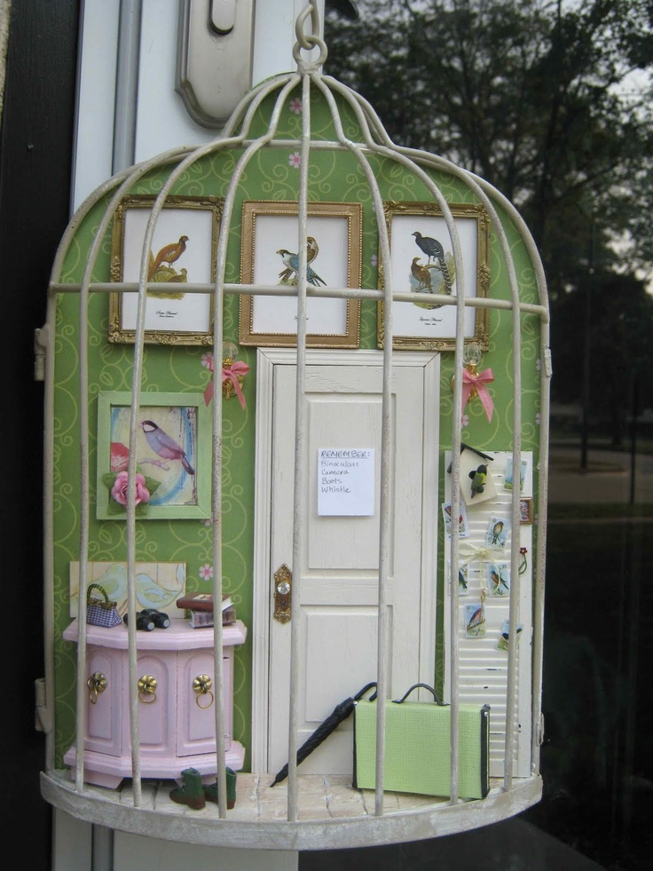 People this is why i love pinterest. Omgosh. ..I'm doing this! Already have the half birdcage.