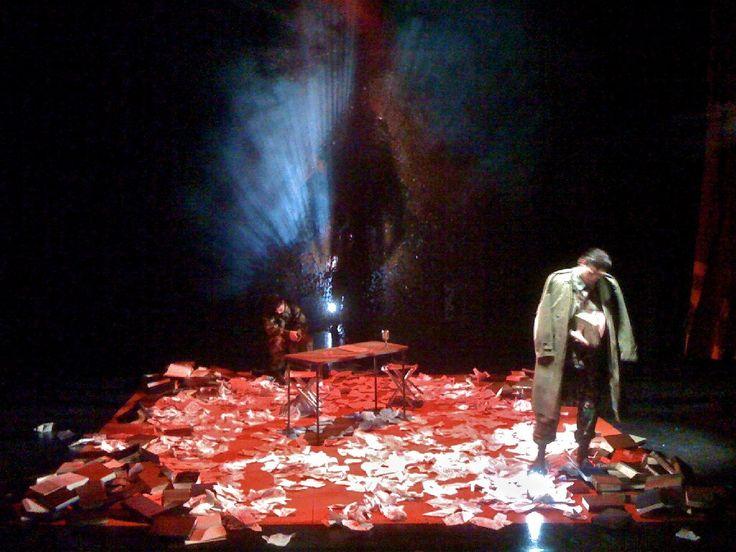JULIUS CAESAR by William Shakespeare  Princeton Day School McAneny Theater  Director: Stan Cahill Lighting: Joshua Benghiat Set: Jeffrey VanVelsor Costumes: Sarah Gosnell