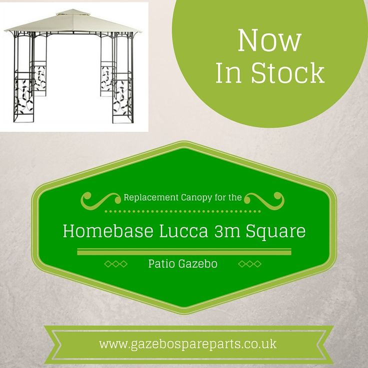Replacement Canopy for the 3m Square Lucca Patio Gazebo originally from Homebase