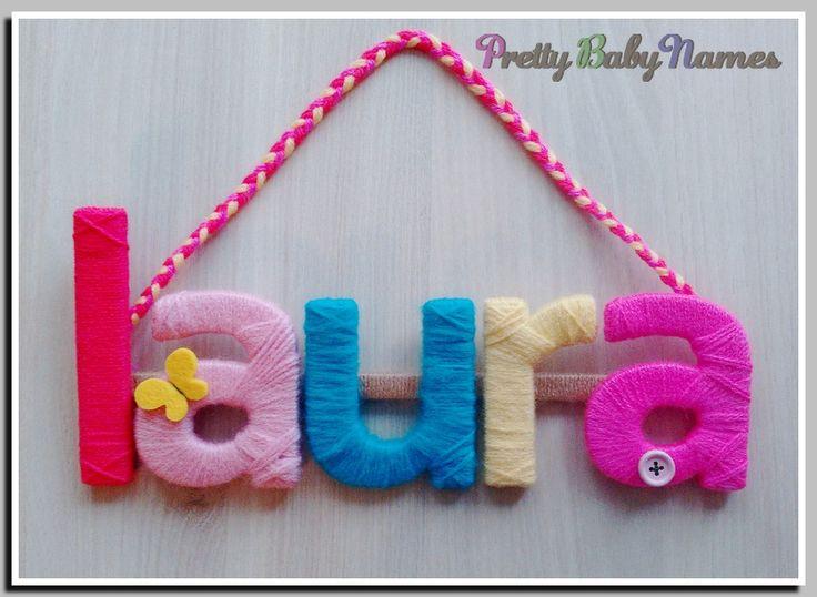Handmade baby sign Laura