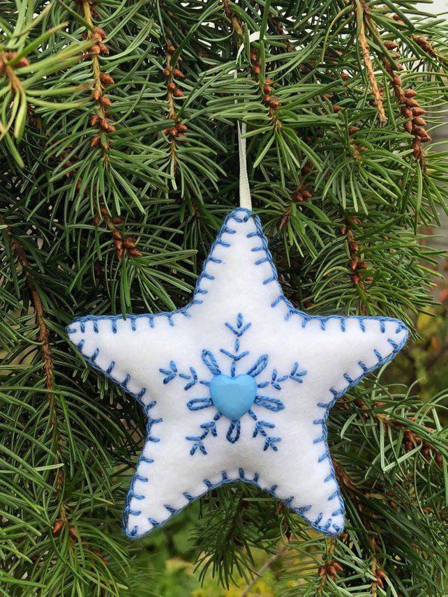 Handmade Felt Christmas Tree Decoration Ornament Hanging Etsy Felt Christmas Decorations Felt Christmas Tree Decorations Felt Christmas Ornaments