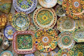 sicilian hand painted plates