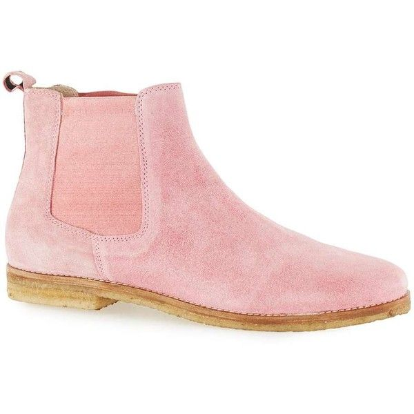 TOPMAN Pink Suede Chelsea Boots ($74) ❤ liked on Polyvore featuring men's fashion, men's shoes, men's boots, pink, mens suede boots, mens suede shoes, topman mens shoes, mens pink shoes and mens suede chelsea boots