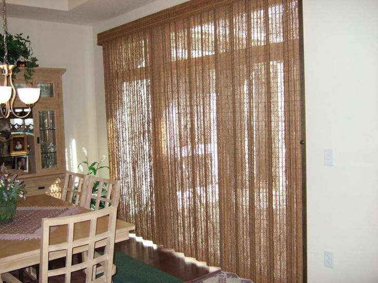 Captivating Coverings Sliding Glass Doors With Blinds   Http://www.carpbusters.com.  Terrassentür JalousienSchiebetür VorhängeSchiebetürenGlastürenBambus ... Awesome Ideas