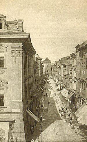 Ulice dawnego Krakowa - Ulica Floryańska, zwana od kościoła S. Floryana stojącego w Kleparzu.....