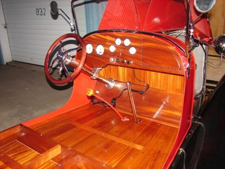 Model A - New African Mahogany dash and floorboards
