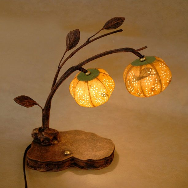 Paper #Lamp Shade with Yellow Bellflower Design Lantern Lights