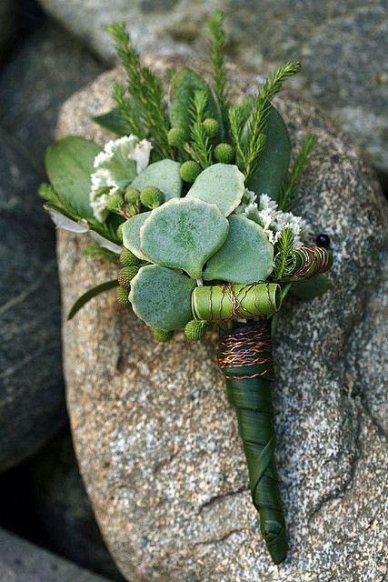 succulent #boutonniere